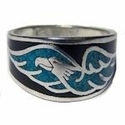 Turquoise Flying Eagle Band Ring