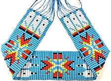 "Turquoise and Red Bead Strip, 1.25"" x 10"""