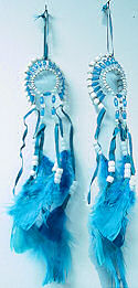Turquoise War Bonnet Headdress Mirror Ornament
