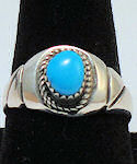 Turquoise Sterling Silver Ring #149