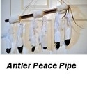 2pt Deer Antler Peace Pipe (White)