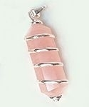 Wire Wrapped Rose Quartz Point