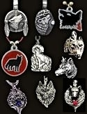 Dozen Assorted Wolf Necklaces