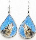 Hand Woven Wolf Threaded Earrings