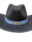 Lavender and Red Thunderbird  Hand Beaded Hat Band
