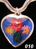 flower heart pendant #001