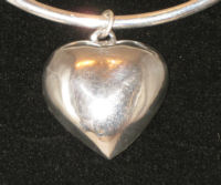 back of silver heart pendant